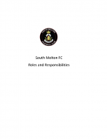 South Molton FC Job roles 2016