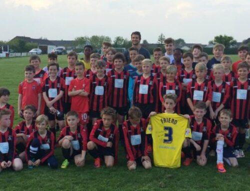 Premiership Footballer George Friend visits SMJFC